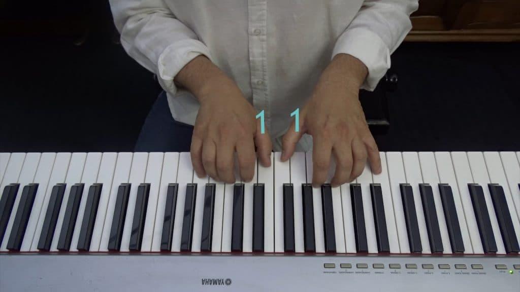 aprender a tocar el piano numeracion dedos