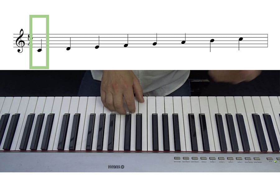 Aprender a tocar el piano: Do central