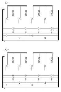 Ejercicio de técnica en 4x4 con D y A7