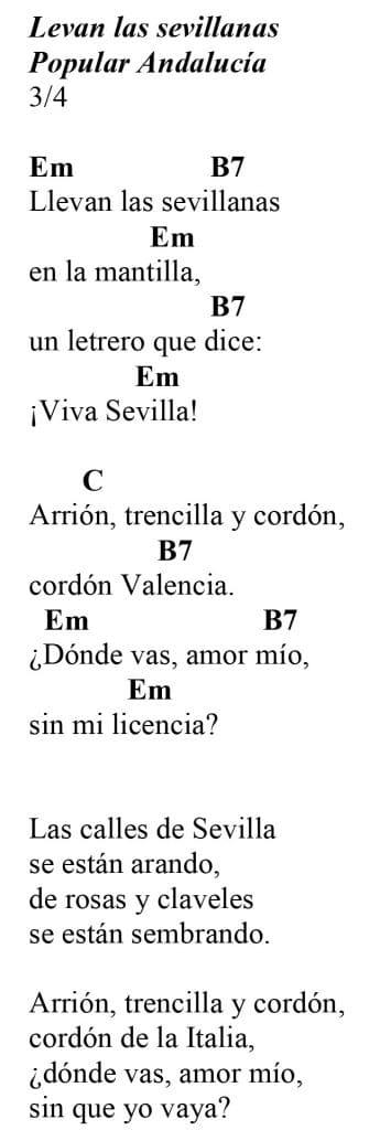 Canciones populares andaluzas: Llevan las sevillanas.