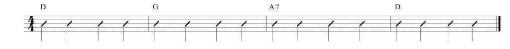 Composición musical en D