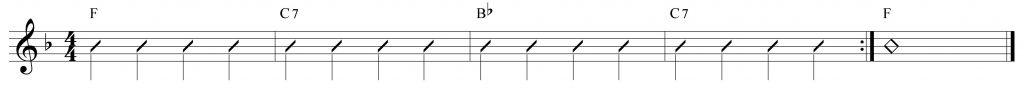 Composición de 4 compases en Fa mayor