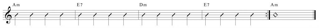 Composición de 4 compases en lam