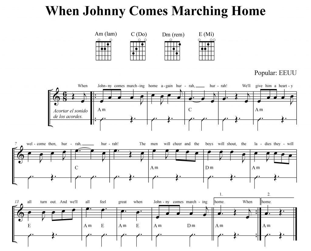 Cuando Johnny llega marchando a casa