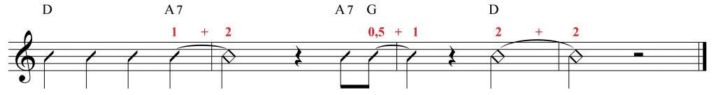 Ligadura de unión con acordes